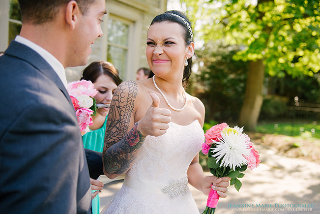 Bride Giving Thumbs Up