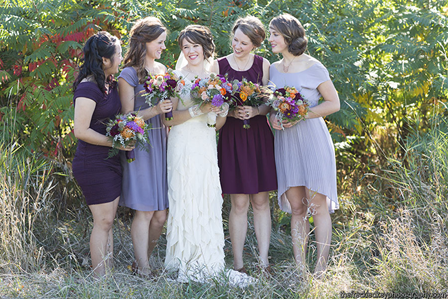 rustic mix and match bridesmaid dresses