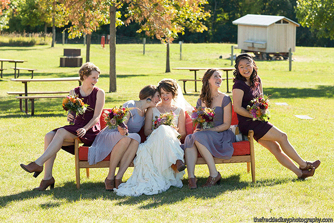 bride-and-bridesmaids-fall-wedding