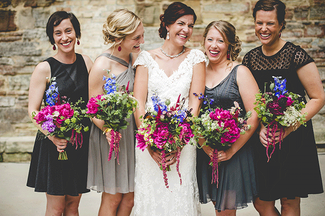 bride-and-bridesmaids-summer-wedding