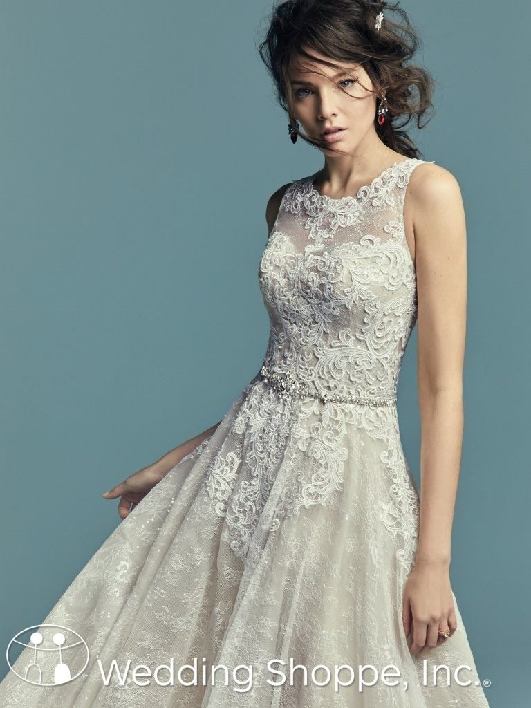 Lace Halter Bridal Gown Maggie Sottero Annabella