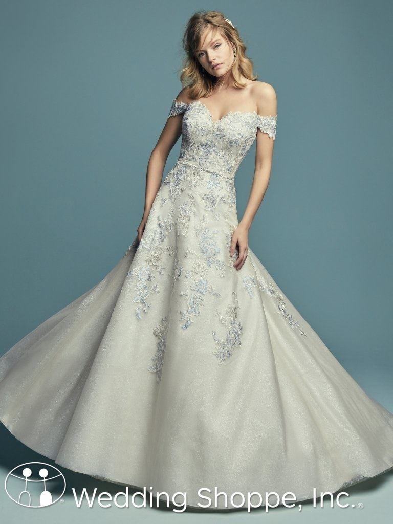 Off-The-Shoulder Sweetheart Neckline Bridal Gown Maggie Sottero