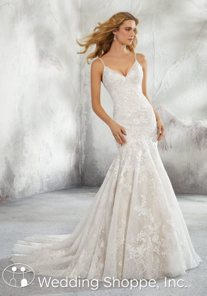 Mori Lee Lace Fit And Flare Bridal Gown