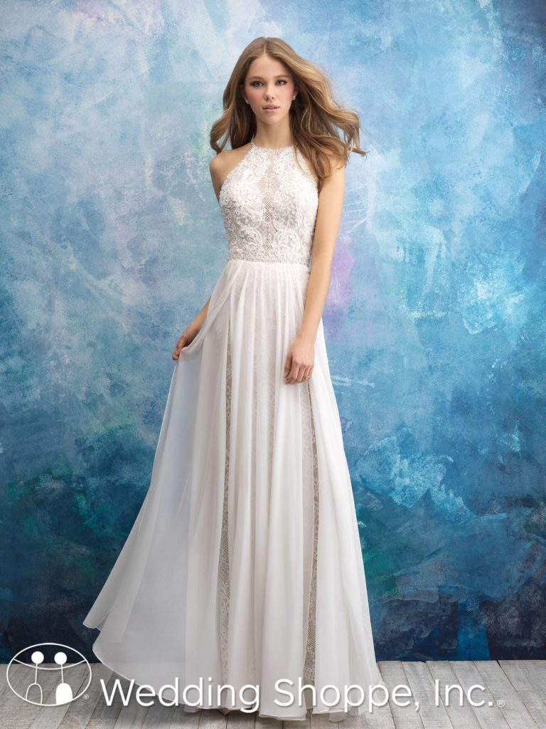 Allure Lace and Chiffon Bridal Gown 9573