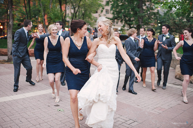 bride-and-bridesmaid-walking