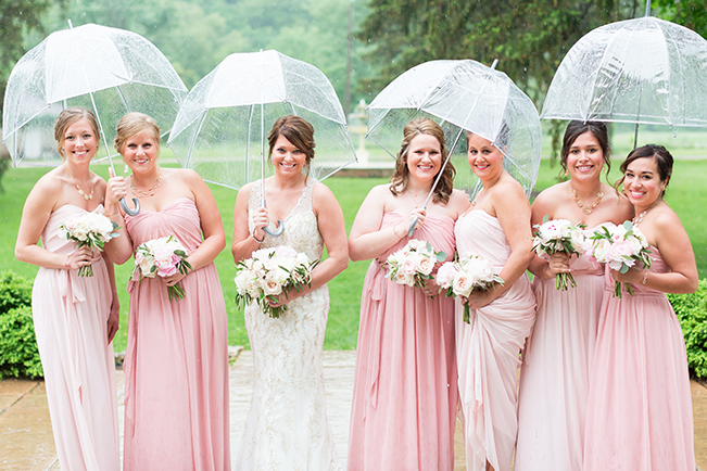 Bride-and-Bridesmaids-With-Umbrellas