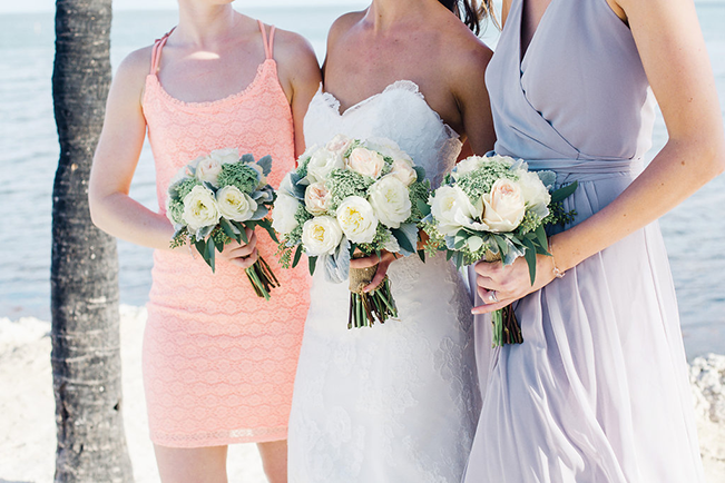 Bride-and-Bridesmaids-on-Beach