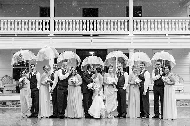 Wedding-Party-Under-Umbrellas