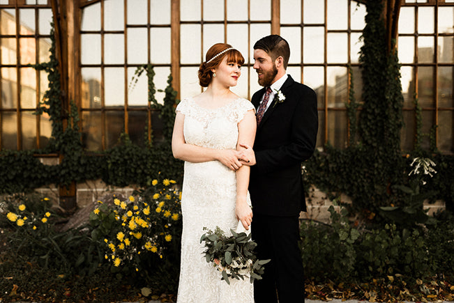 Bride in Lace Bridal Gown Tandem Tree