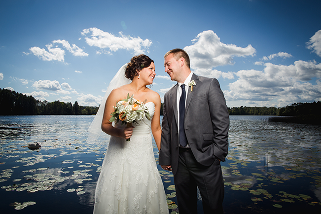 wedding reception on the water