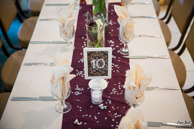 wedding table placement