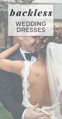 backless wedding dresses you'll love