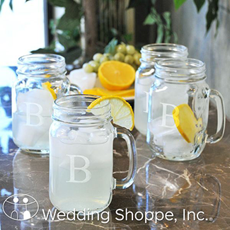 monogrammed mason jar glasses