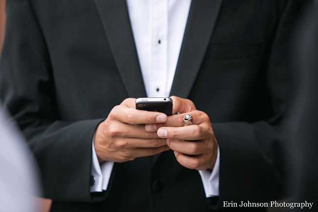 wedding-guest-on-phone