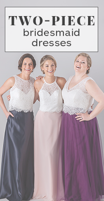 two-piece bridesmaid dresses