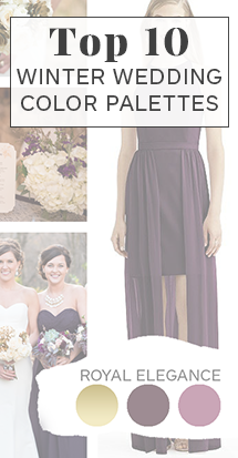 top 10 winter wedding color palettes