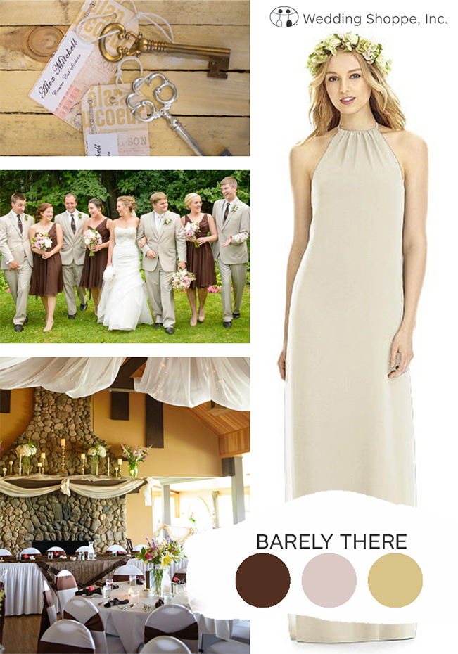 barely there fall wedding color palette
