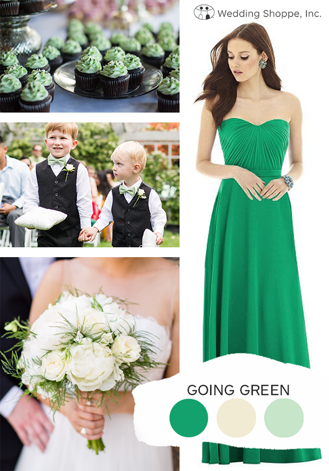 going green fall wedding color palette