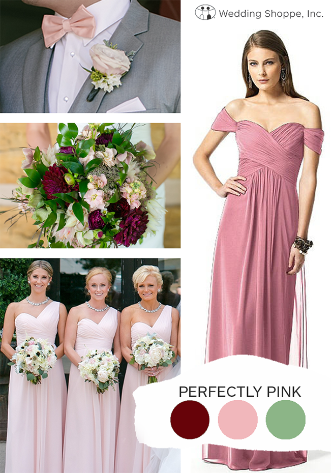 perfectly pink fall wedding color palette