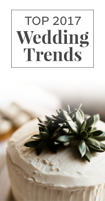 the top 2017 wedding trends