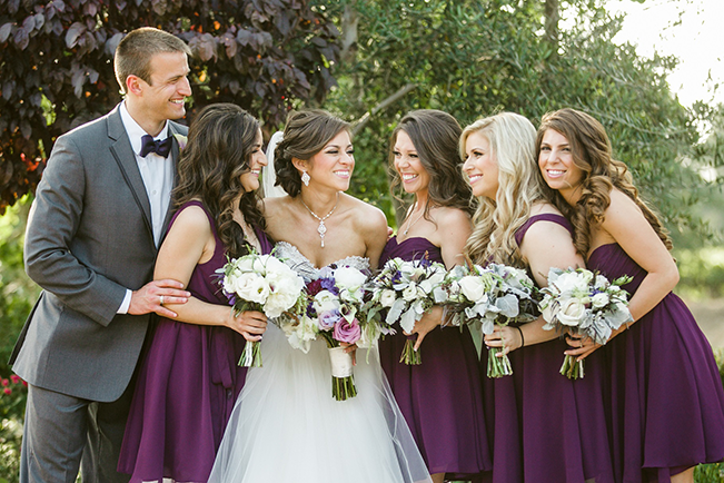 bride with her bridesmaids/bridesman