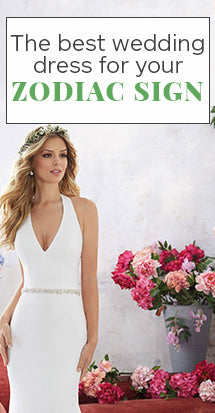 best wedding dress for your zodiac sign