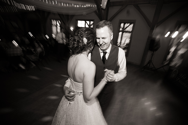father and daughter slow dancing