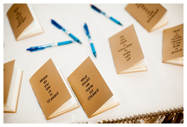 suggestion booklets for the bride and groom