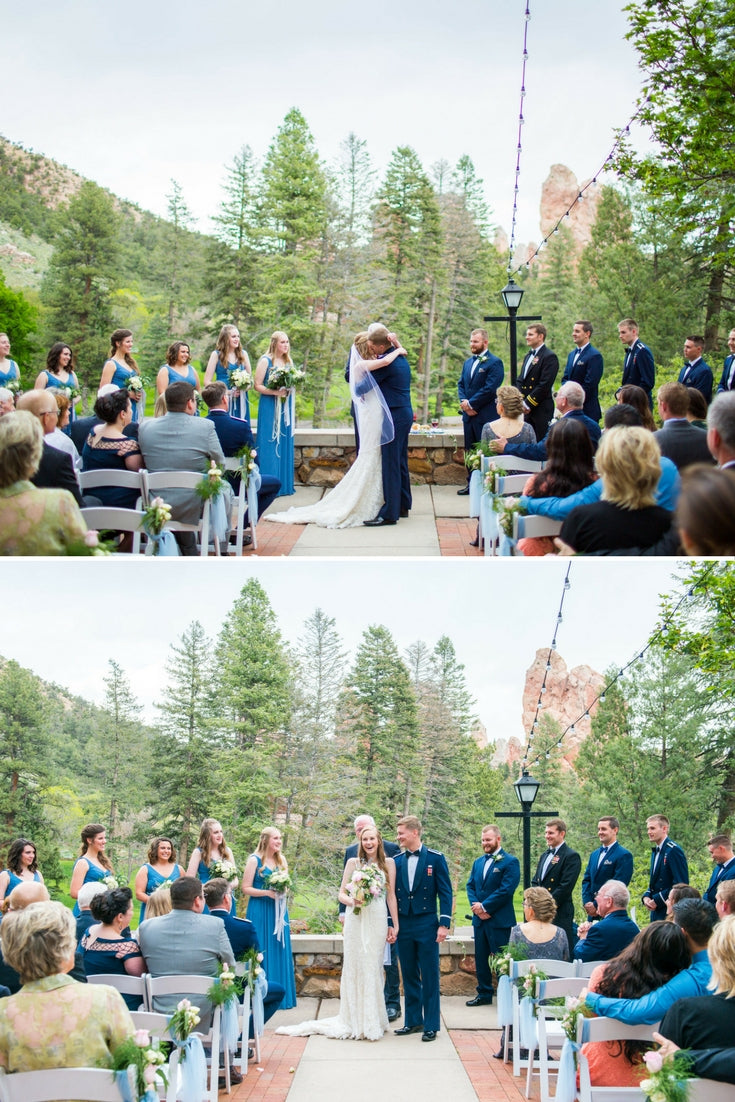 Real Wedding Inspiration: Anna + Ben's Romantic Wedding at Glen Eyrie Castle | The Wedding Shoppe | Rene Tate Photography