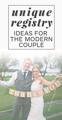 Registry Ideas for the Modern Couple | The Wedding Shoppe Inc.