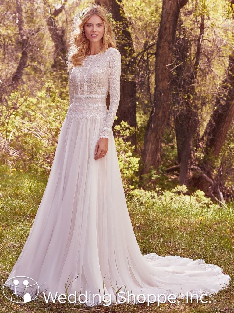 Maggie Sottero long sleeve gown