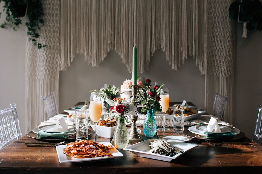 boho bridal brunch