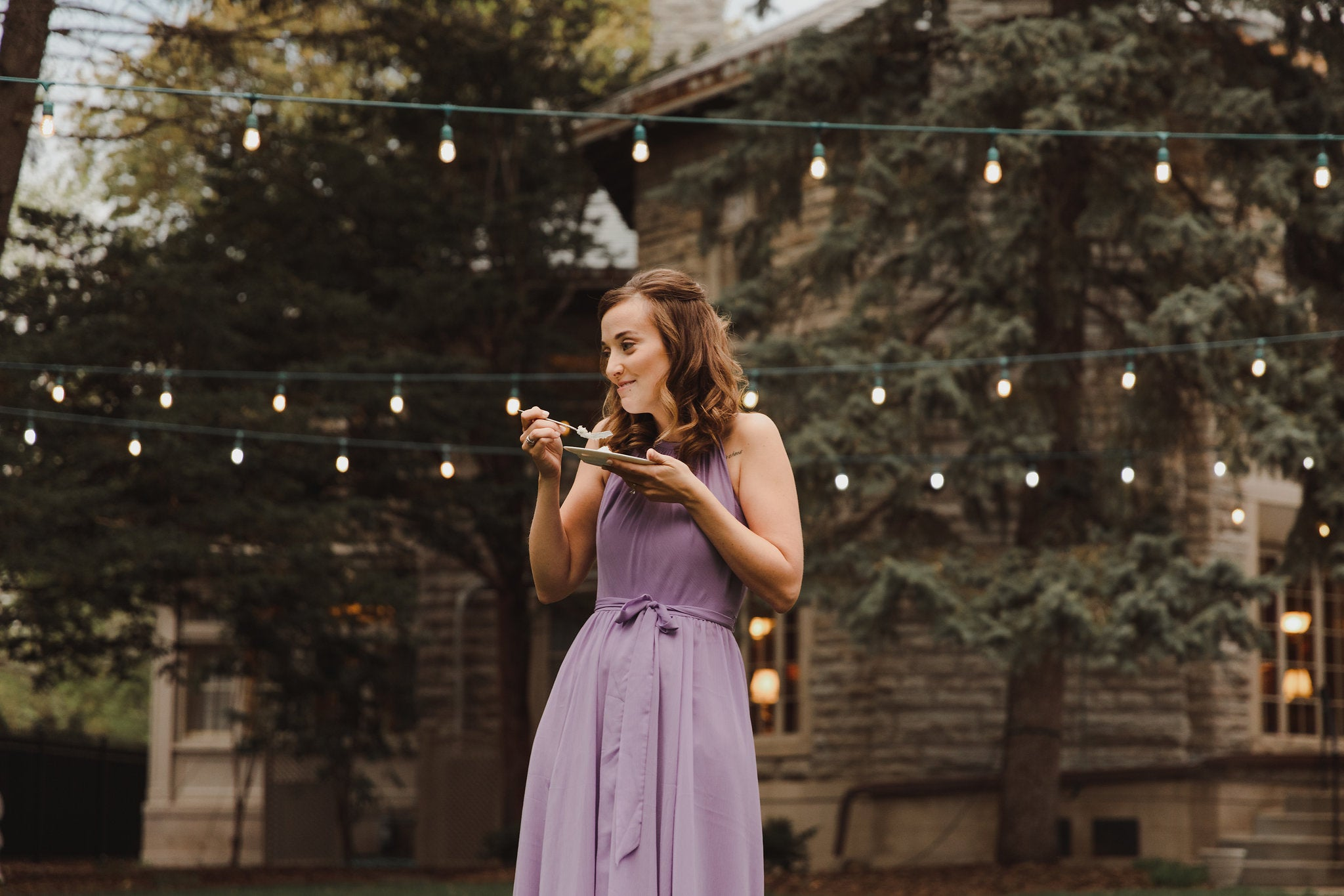 Purple bridesmaid dresses Kennedy Blue