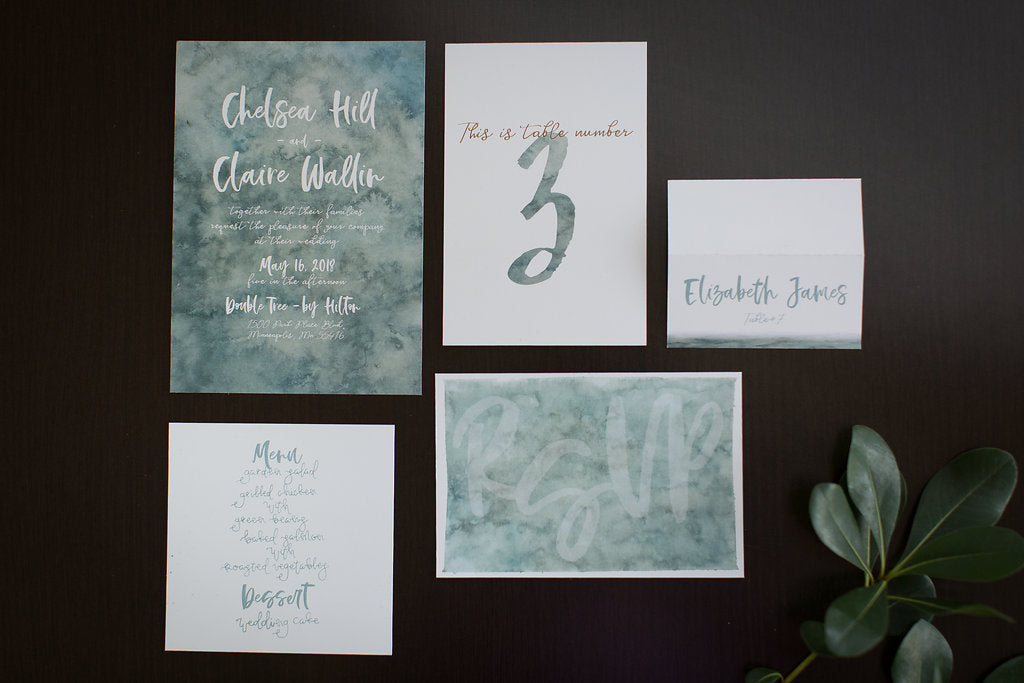 Sea green wedding colors