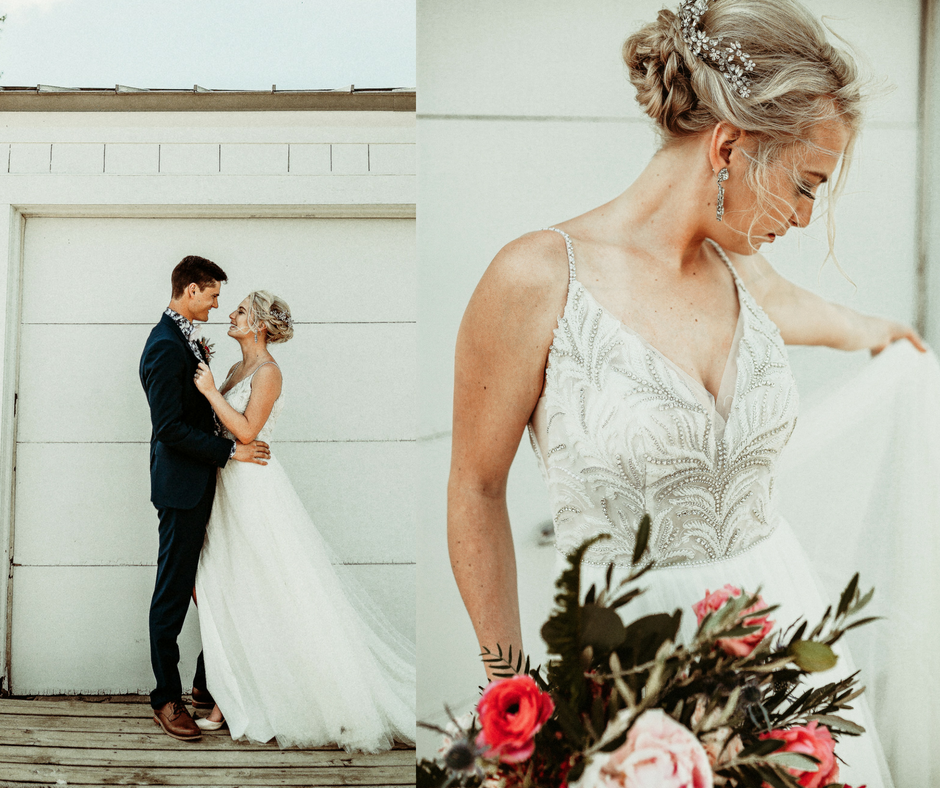 beaded Maggie Sottero bridal gown
