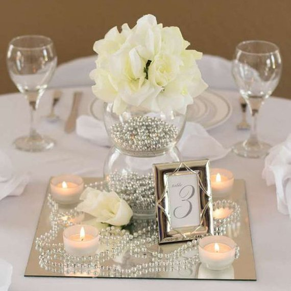wedding centerpiece mirrors | 13 budget friendly wedding decorations