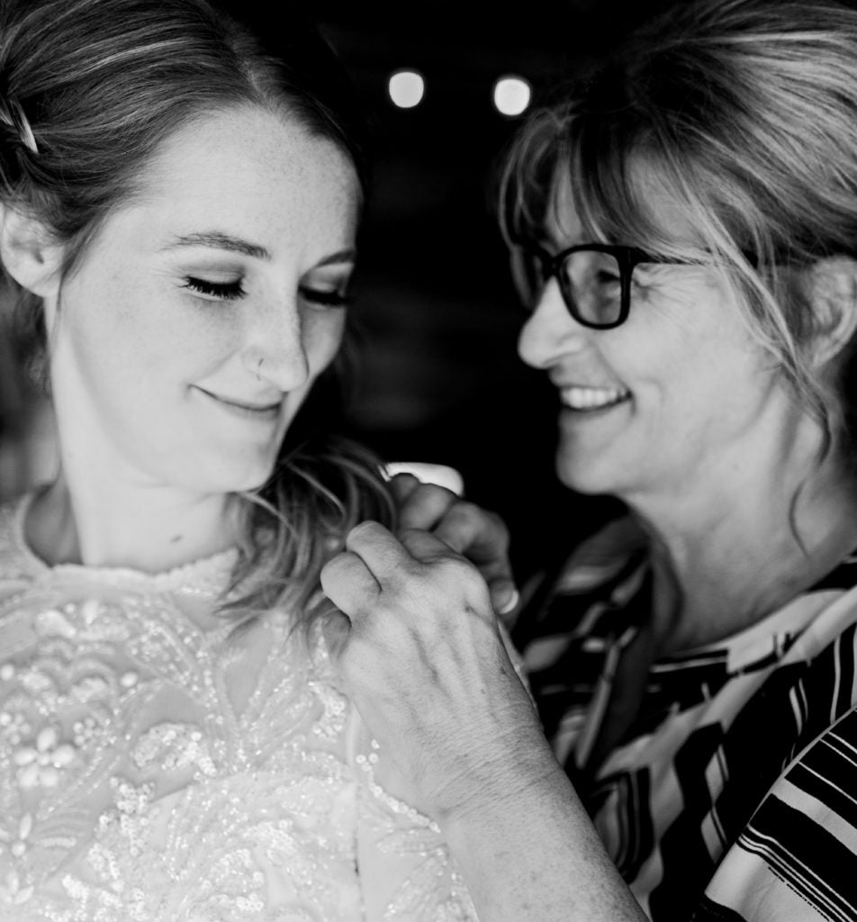 Mother and bride smiling | The Search for the Perfect Mother of the Bride Gift Made Easy