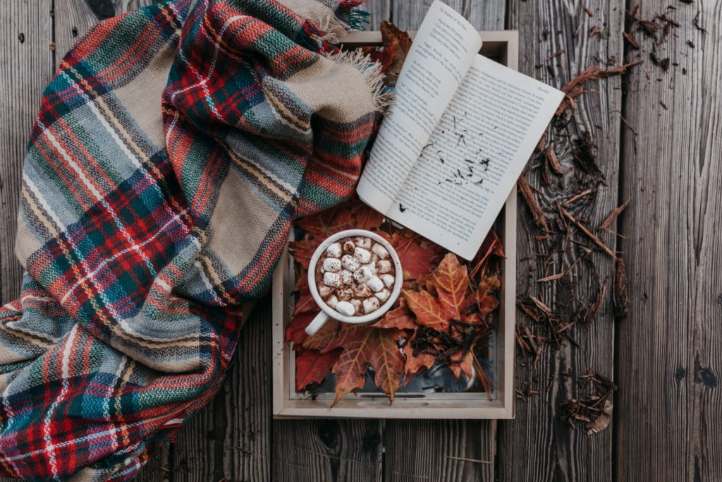 mug, scarf, and book | How to Pick the Perfect Fall Engagement Photos Outfit