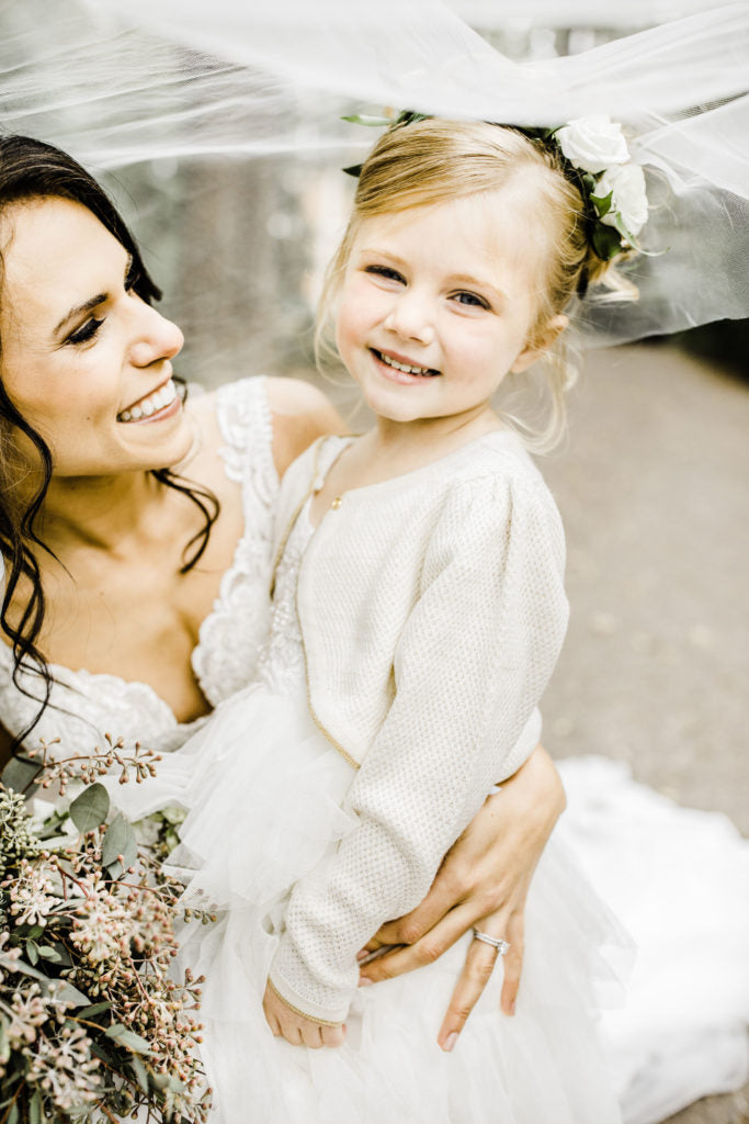 Our Special Little Flowergirl with personalised name and date wedding Baby ...
