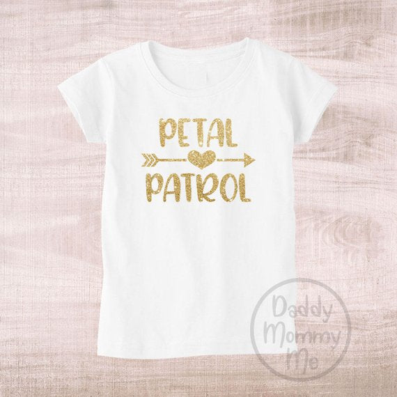 petal patrol flower girl shirt | How to Nail the Perfect Flower Girl Proposal