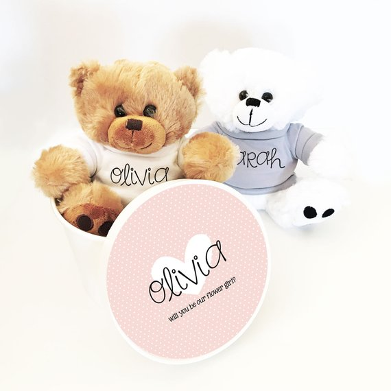 Etsy teddy bear | How to Nail the Perfect Flower Girl Proposal