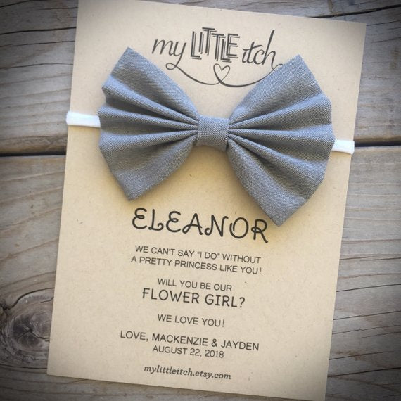 flower girl proposal bow | How to nail the perfect flower girl proposal