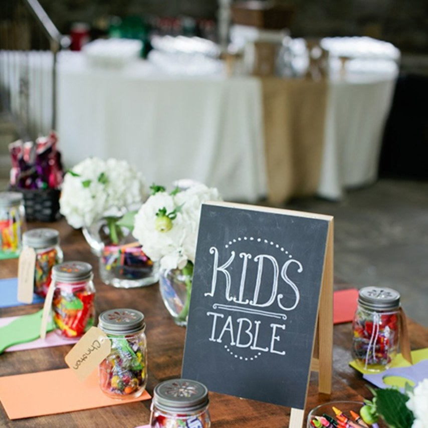 kids table at wedding | Should I Have Kids at My Wedding?