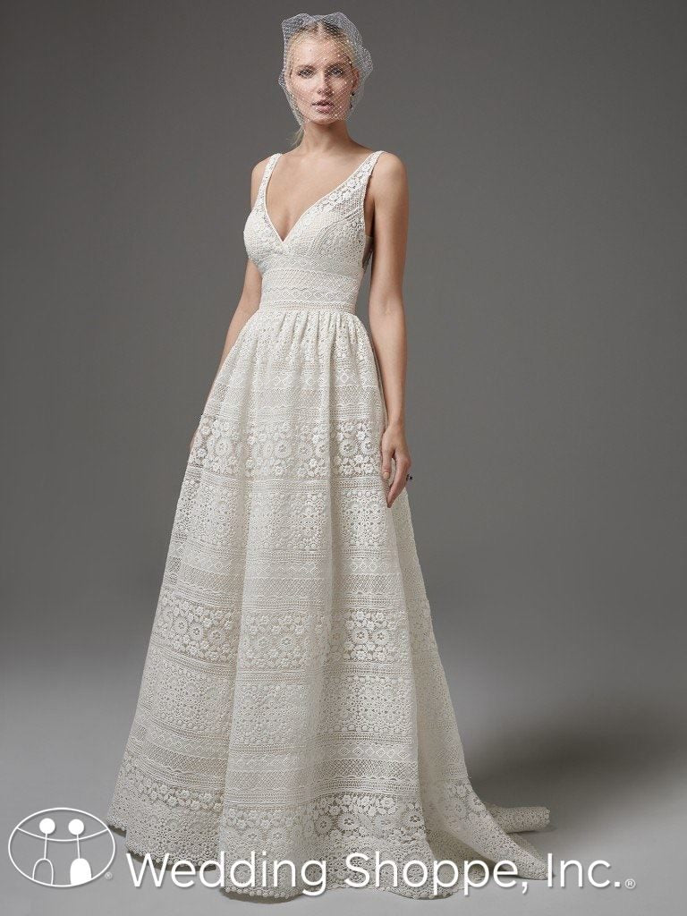 gold wedding gowns Sottero and Midgley
