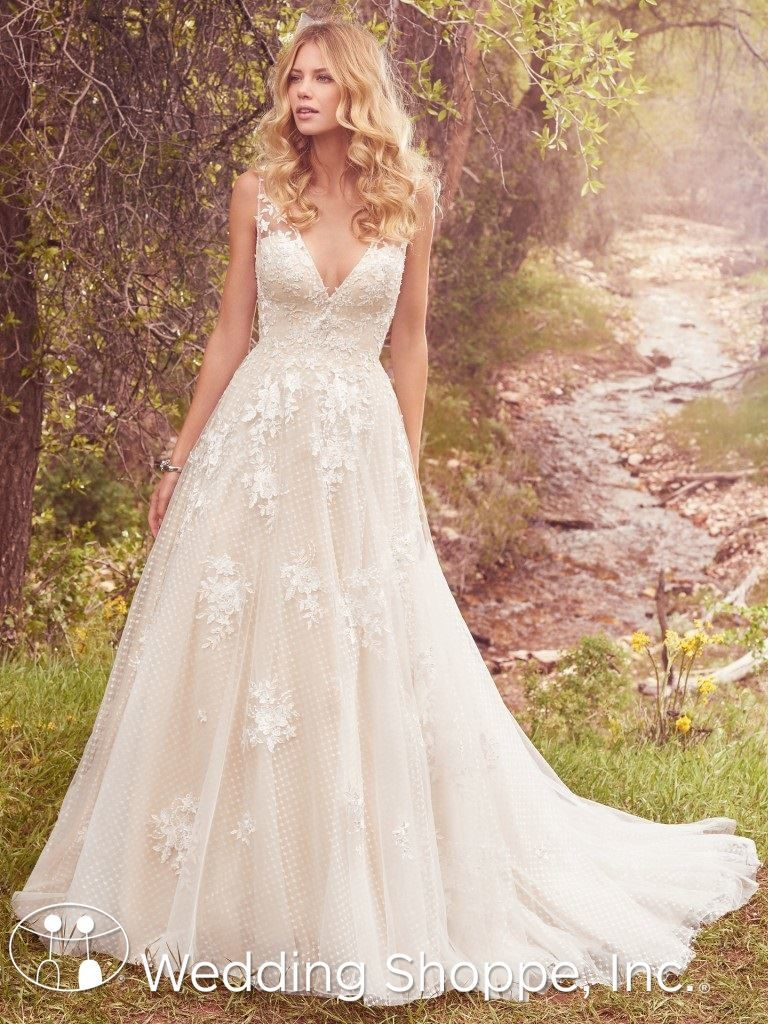 gold wedding gowns Maggie Sottero