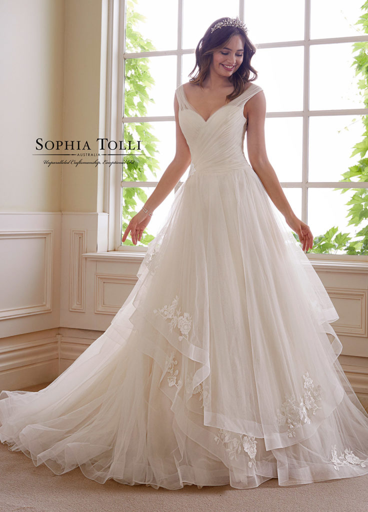 gold wedding gowns Sophia Tolli
