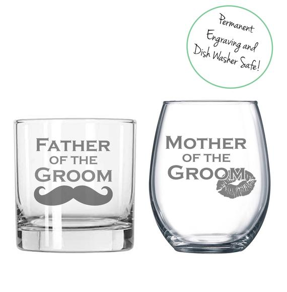parents of the groom alcohol glasses  | Parents of the Groom Gifts That They'll Love