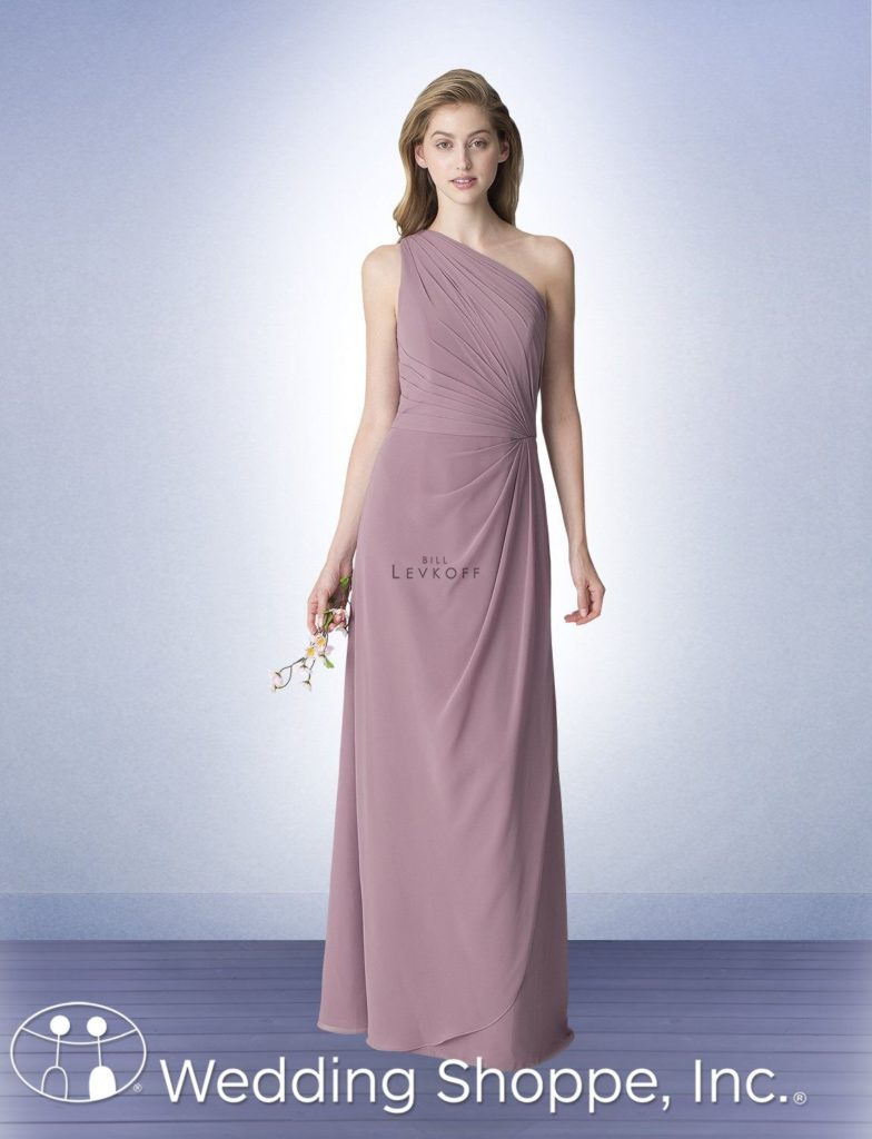 one shoulder Bill Levkoff bridesmaid dress | Bill Levkoff Bridesmaid Dresses