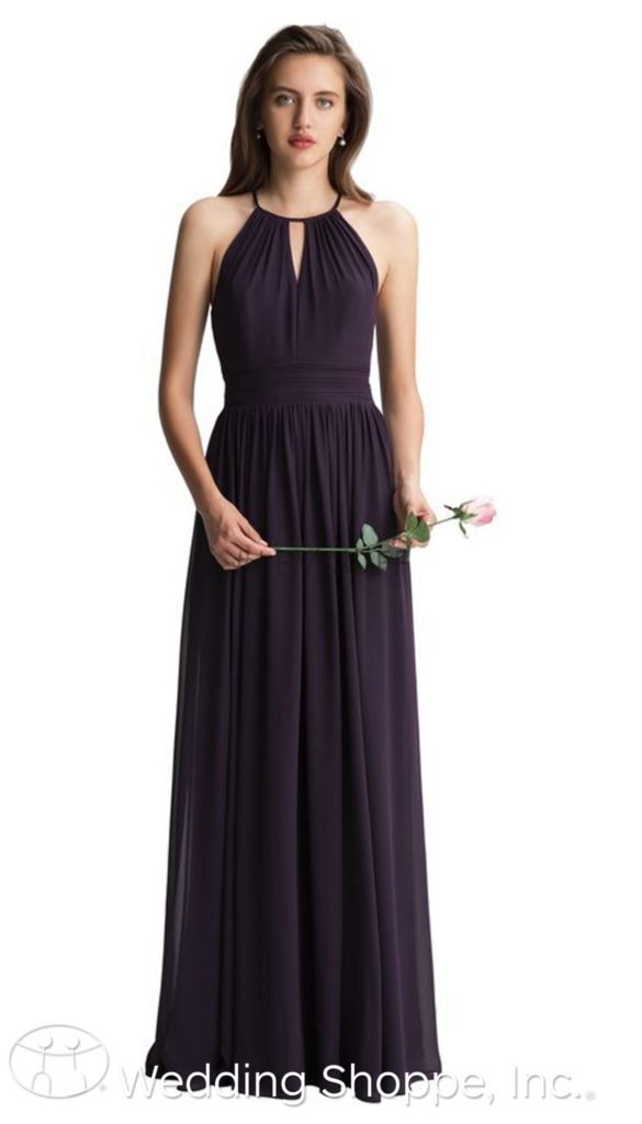 halter top keyhole bridesmaid dress | Bill Levkoff bridesmaid dresses