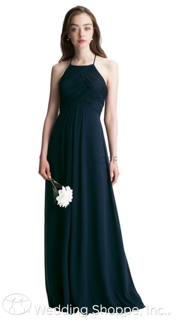 Bill Levkoff bridesmaid dresses | halter top bridesmaid dress